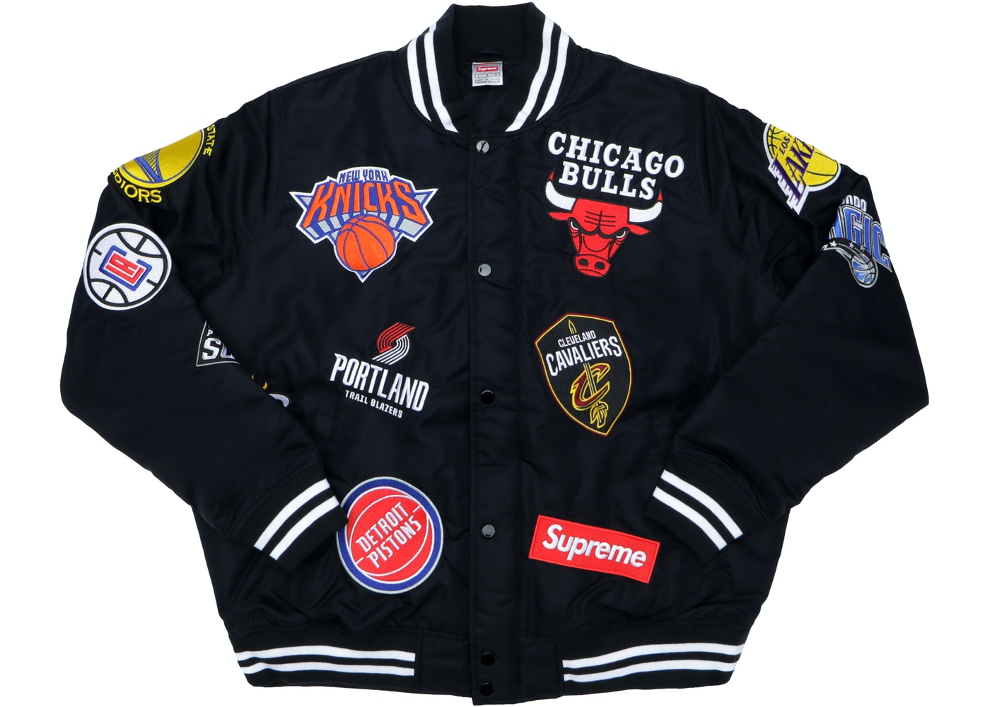 supreme nike nba teams warm up jacket black ss18