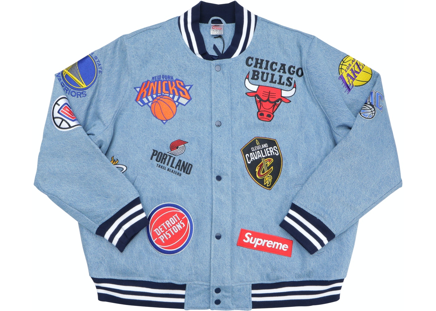 Tareas del hogar lunes Detector  Supreme Nike/NBA Teams Warm-Up Jacket Denim - SS18