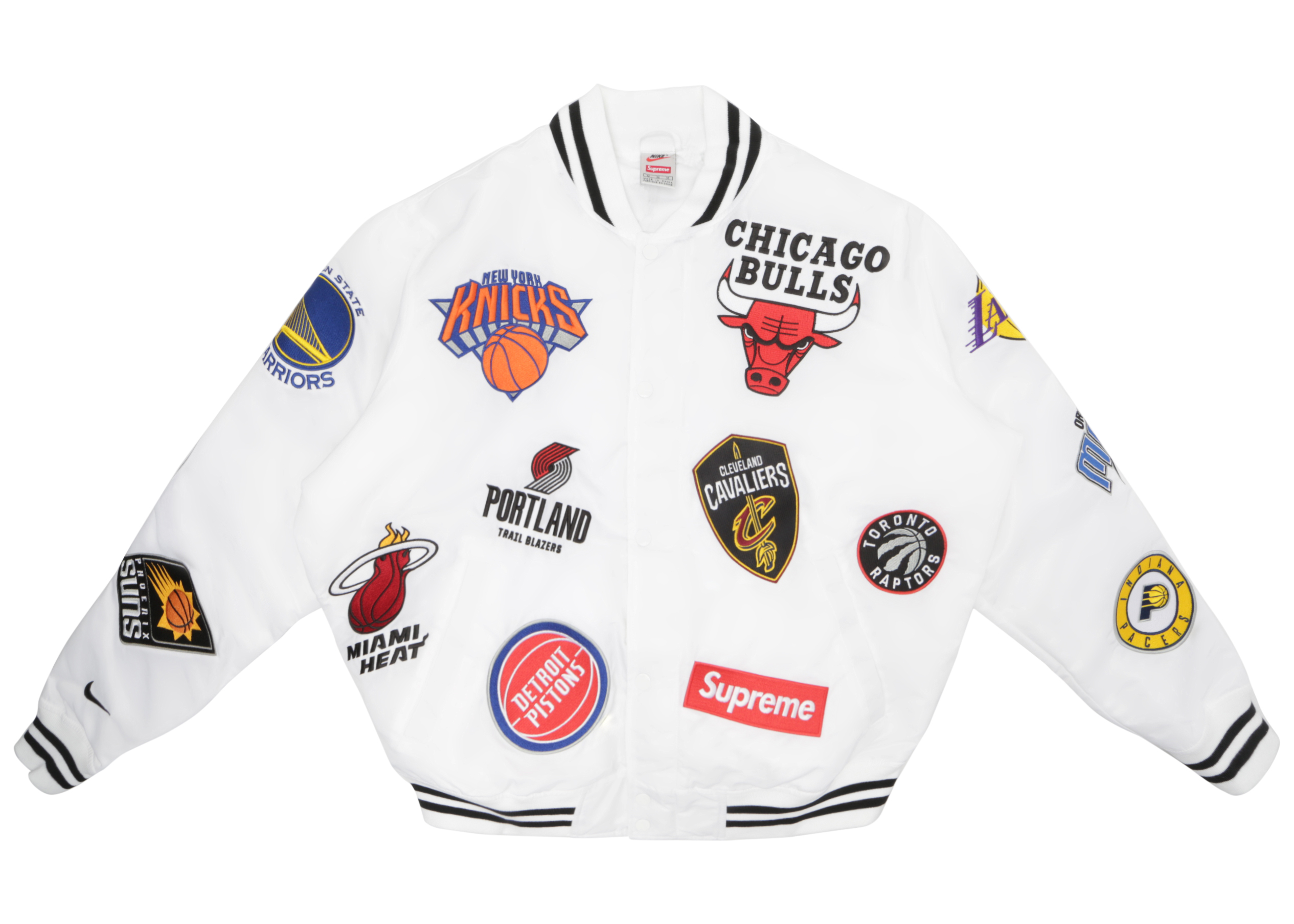 Supreme NikeNBA Teams Warm Up Jacket White