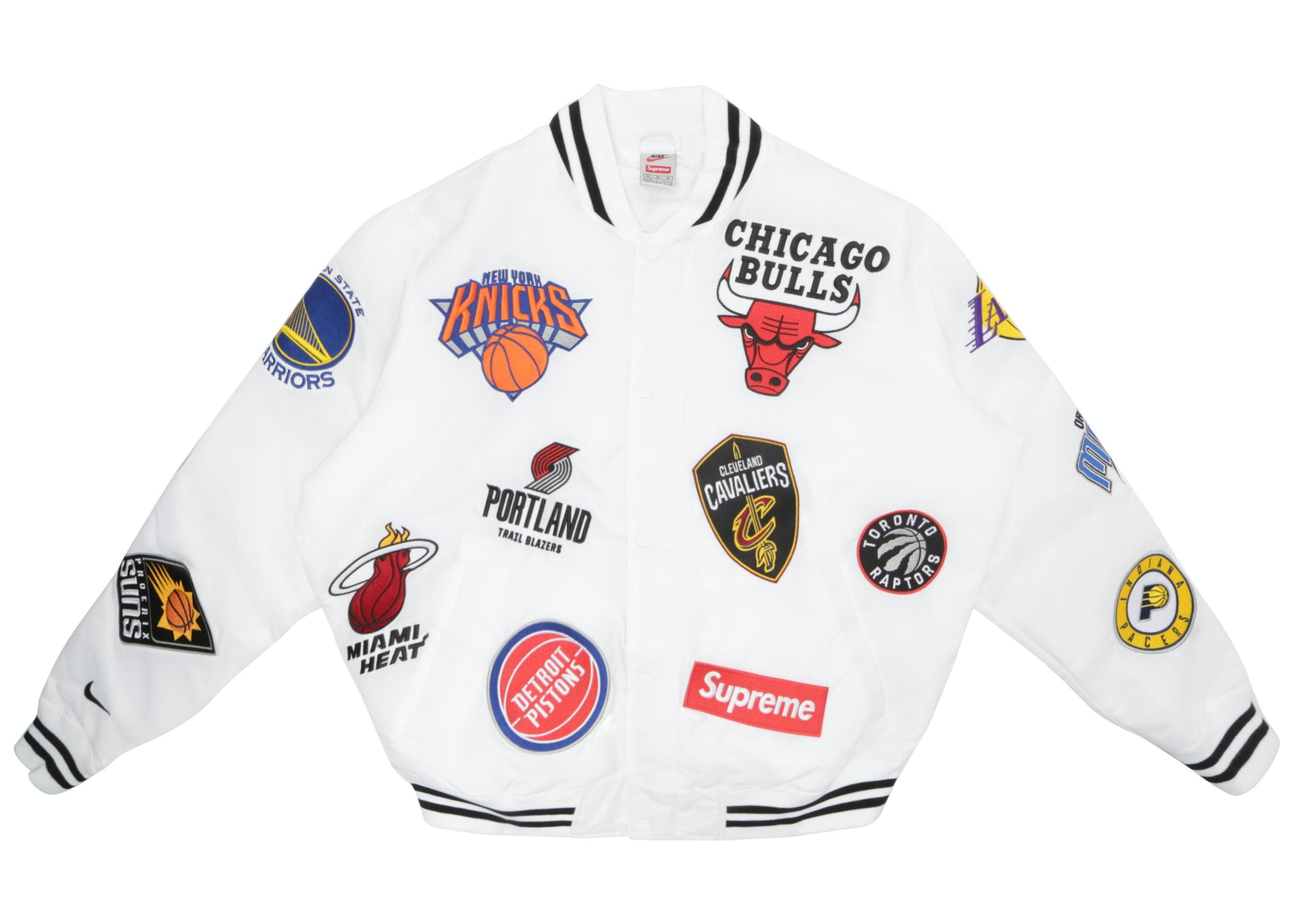 Supreme Nike/NBA Teams Warm-Up Jacket White