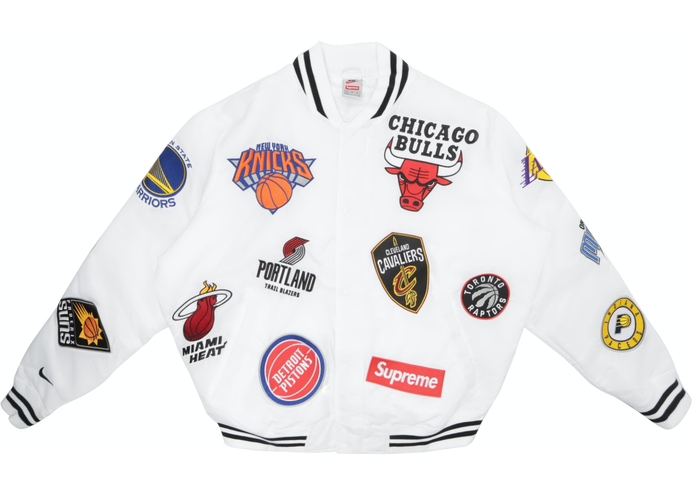 new high quality top design outlet Supreme Nike/NBA Teams Warm-Up Jacket White