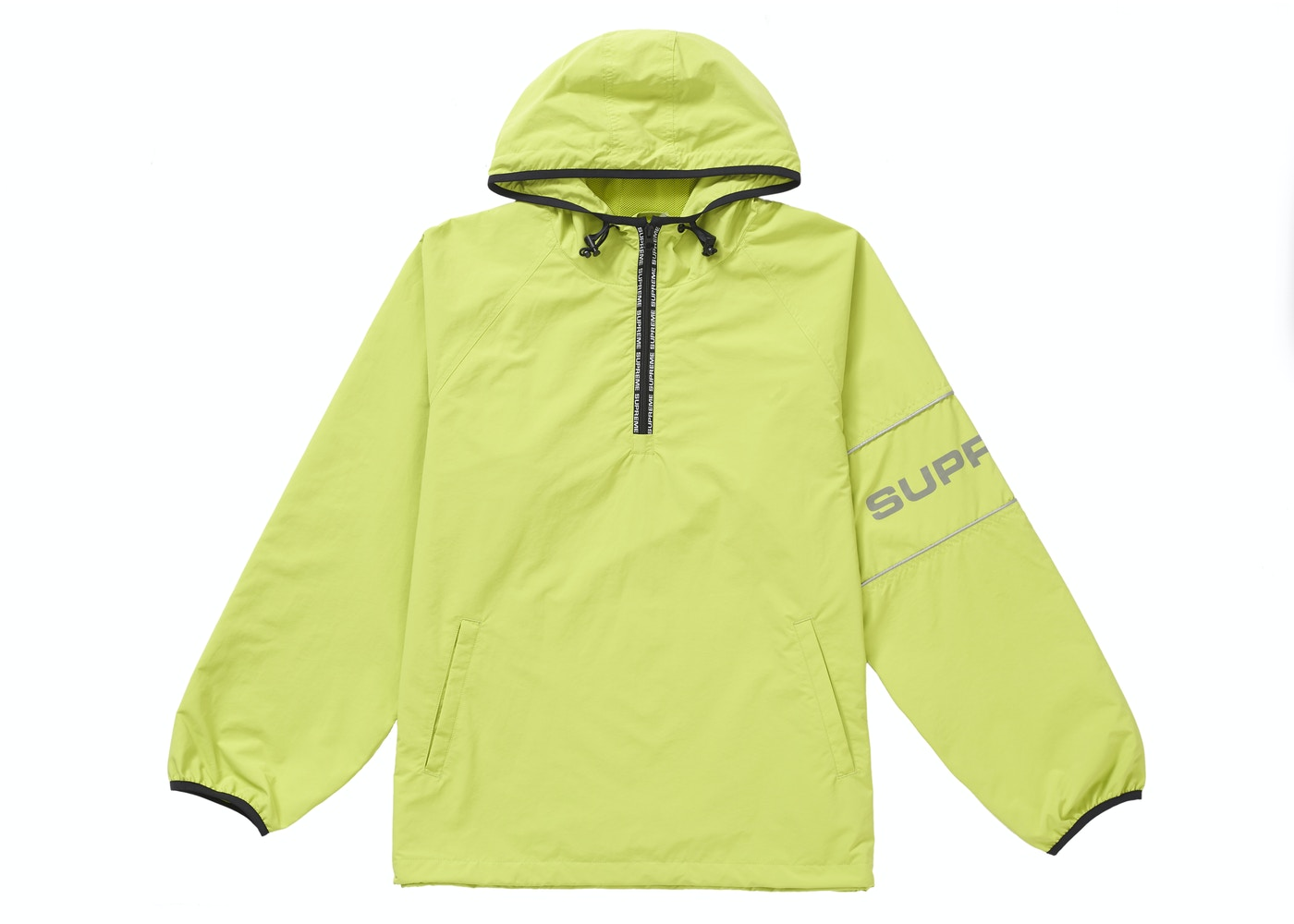 6c9c2080 Supreme Nylon Ripstop Hooded Pullover Lime - SS19