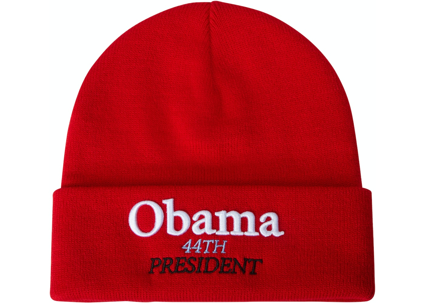 a84d7352c9 Supreme Obama Beanie Red - FW18