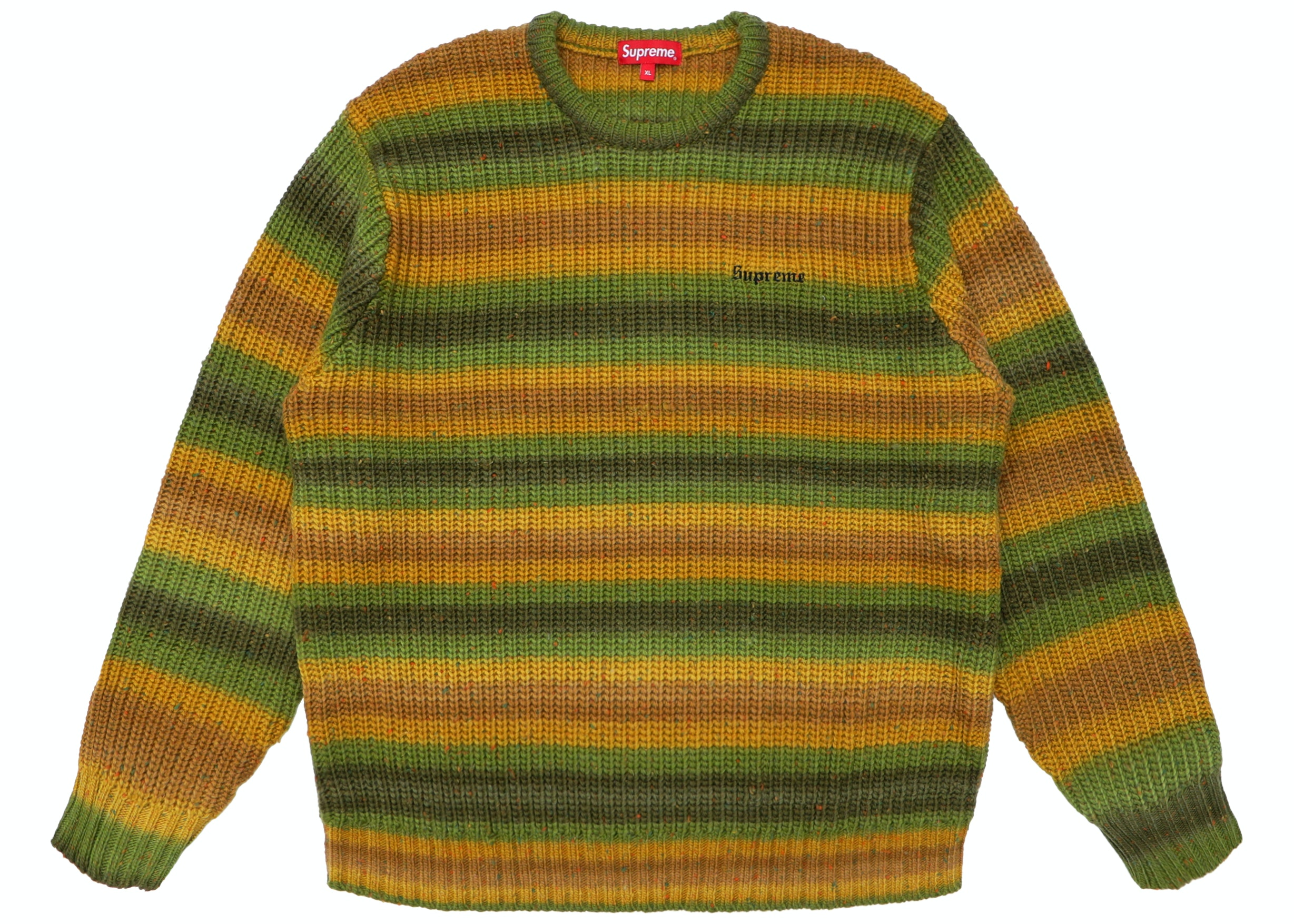 Ombre Stripe Sweater Green