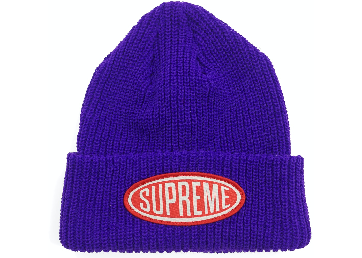 Supreme Oval Patch Beanie Purple - FW18 fd66831ea