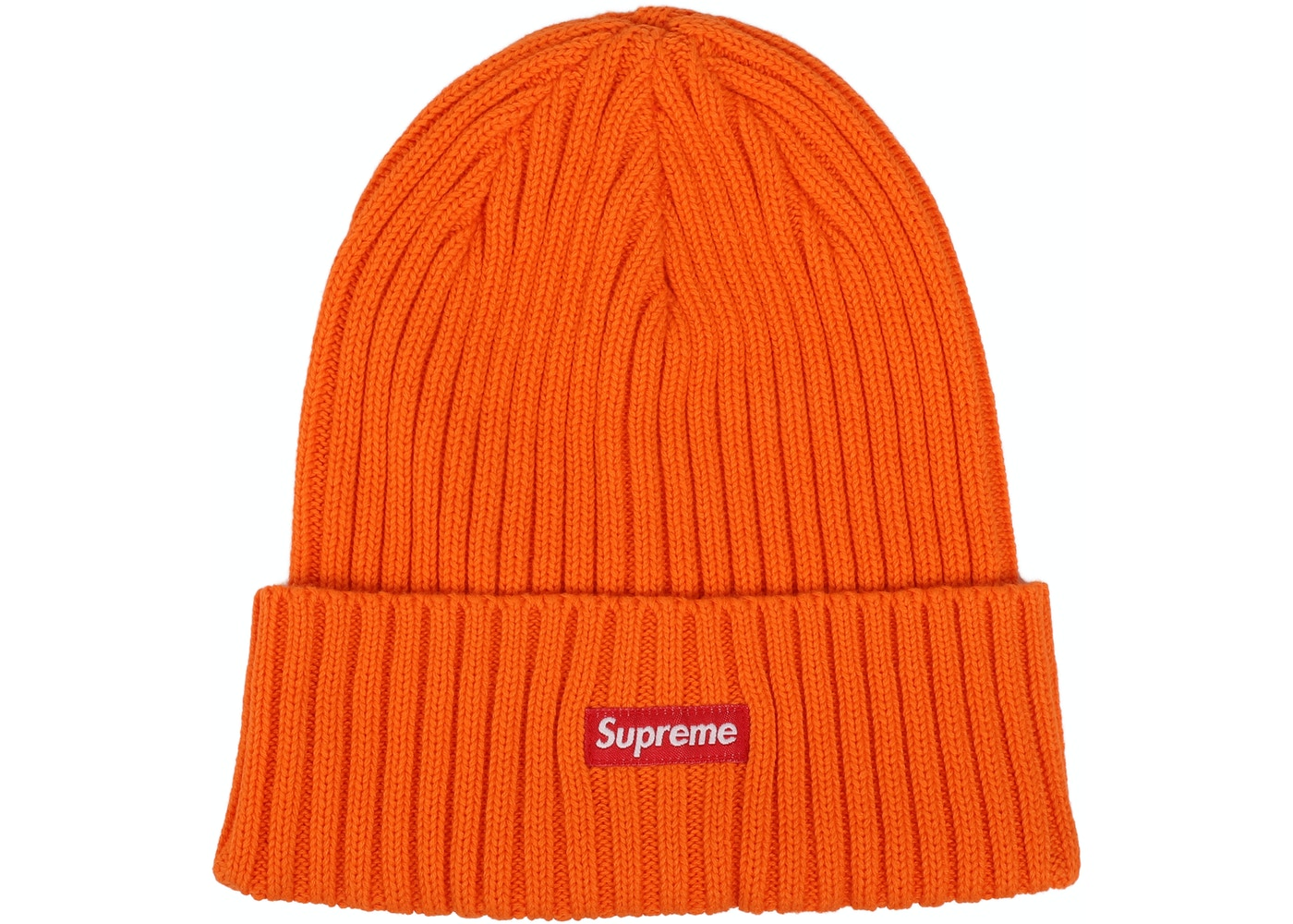... Supreme Overdyed Ribbed Beanie (SS18) Washed Orange ... 7f9e1af28