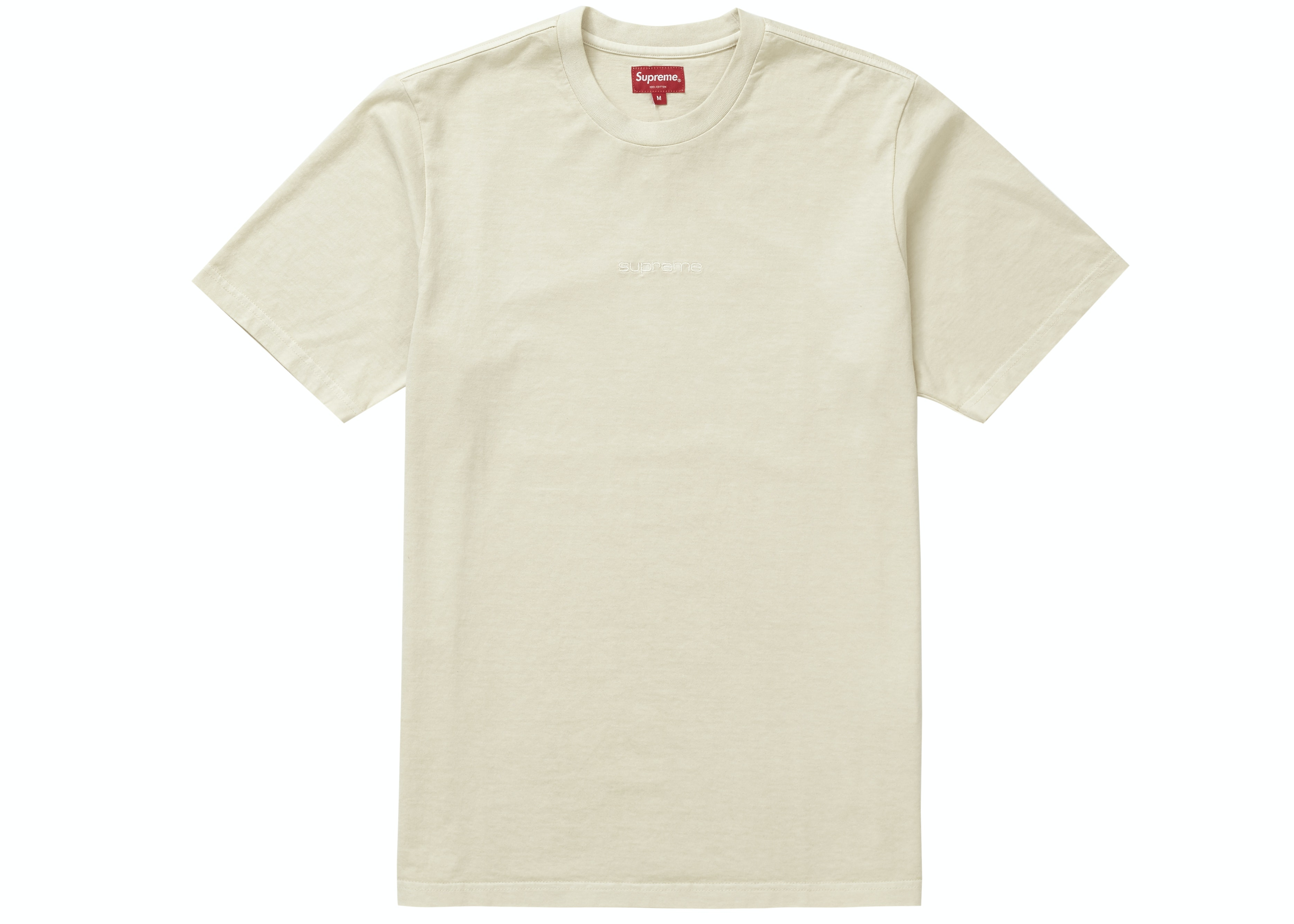 Supreme Overdyed Tee (SS19) Natural