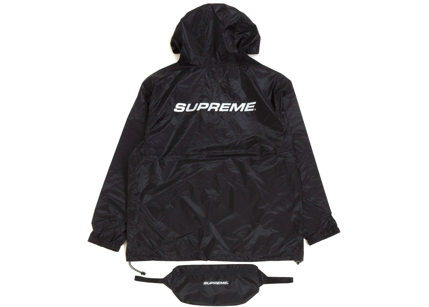 a1bcdf159916 Supreme Packable Ripstop Pullover (With Packable Bag) Black - FW17