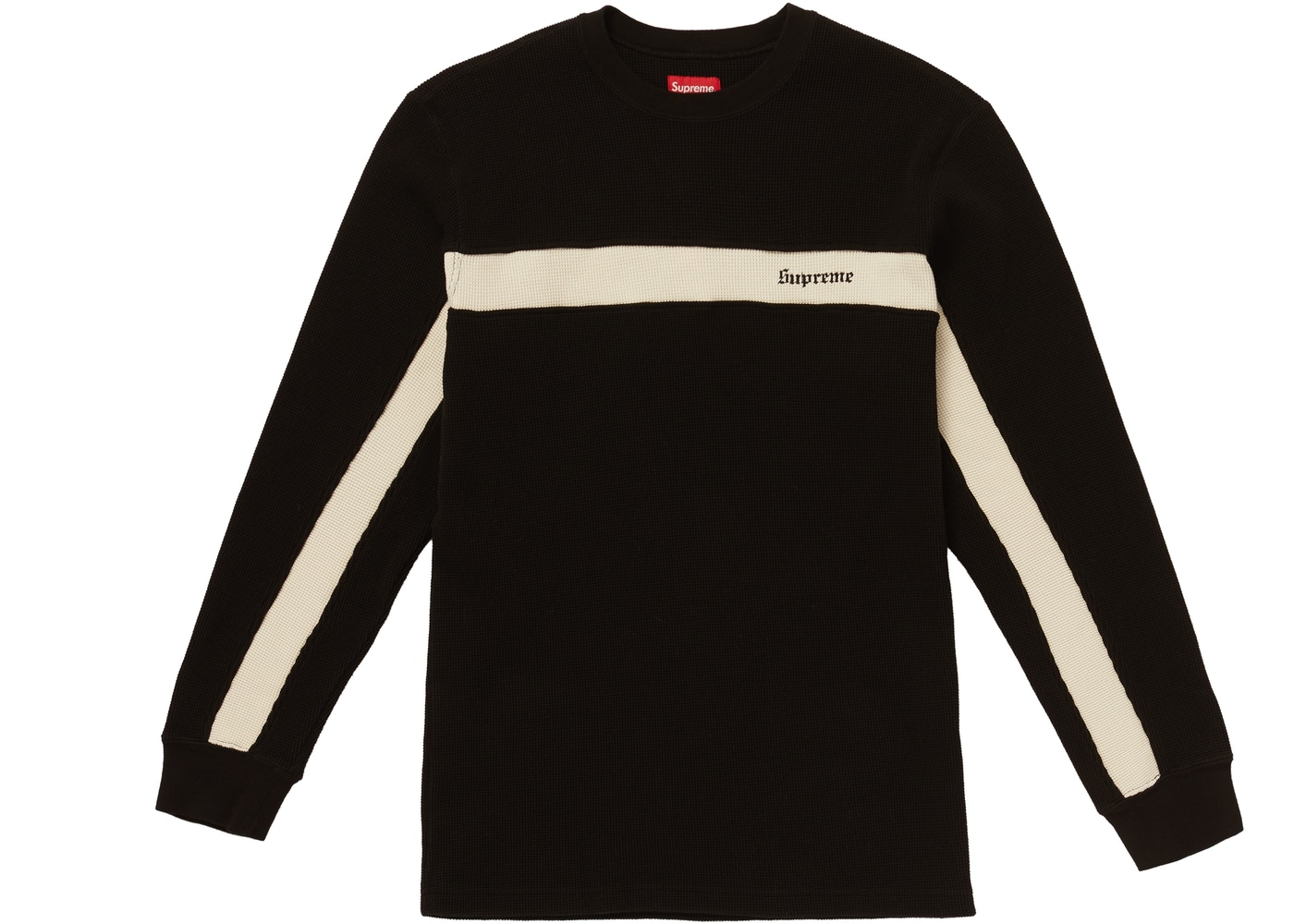 online store 40c01 66f5a Supreme  Supreme Panel Stripe Waffle Thermal Black ...