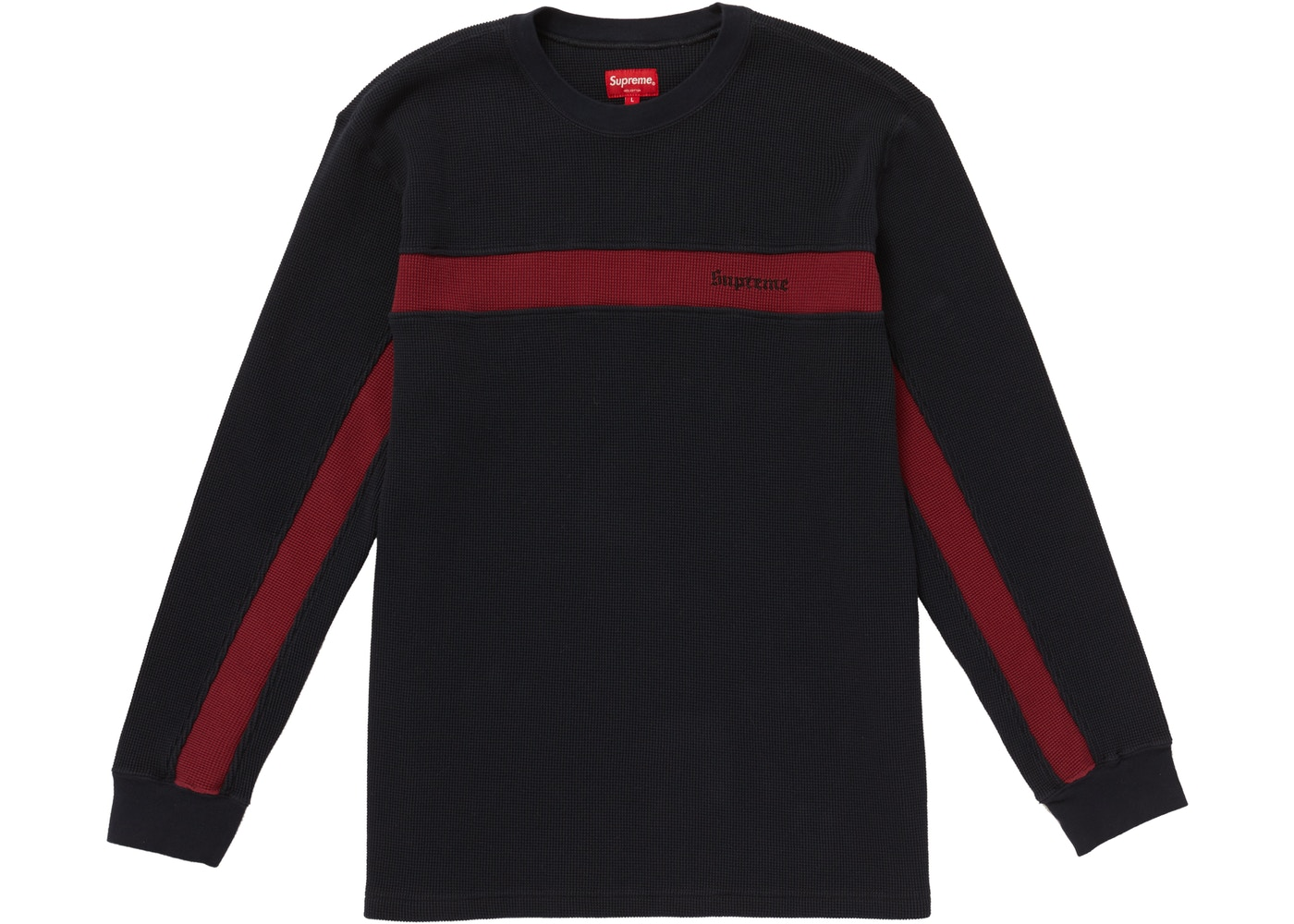 100% authentic 842b6 42a53 ... Supreme Panel Stripe Waffle Thermal Navy ...