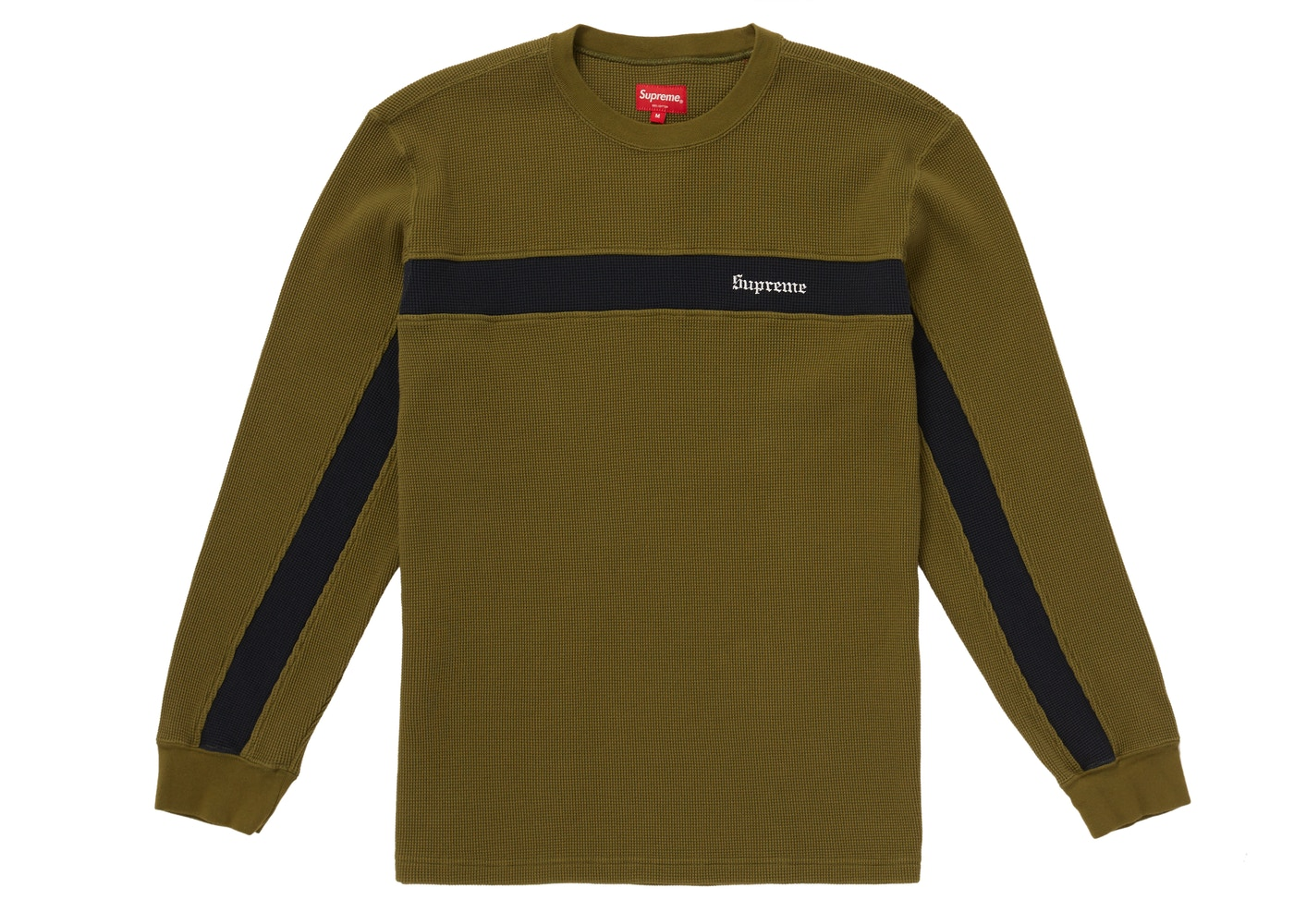 aa88f06989 Sell. or Ask. Size S. View All Bids. Supreme Panel Stripe Waffle Thermal  Olive