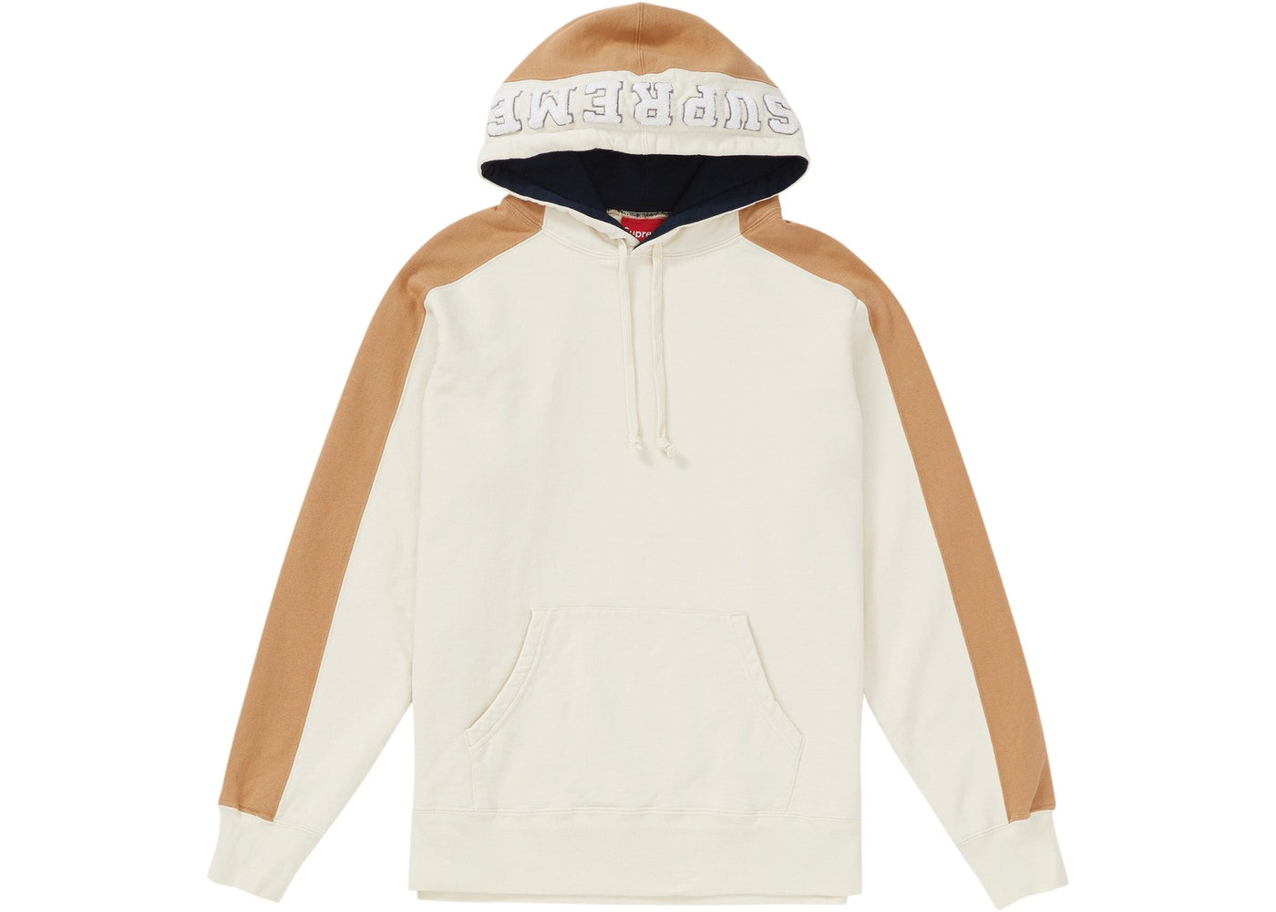 release date: c91fd 54363 Supreme Paneled Hooded Sweatshirt Natural