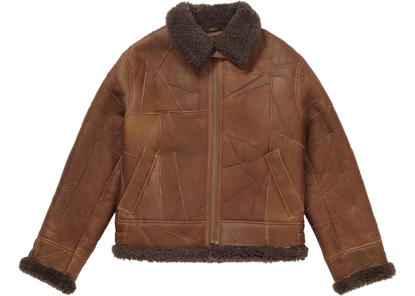 6f934308b Supreme Patchwork Shearling B-3 Jacket Brown
