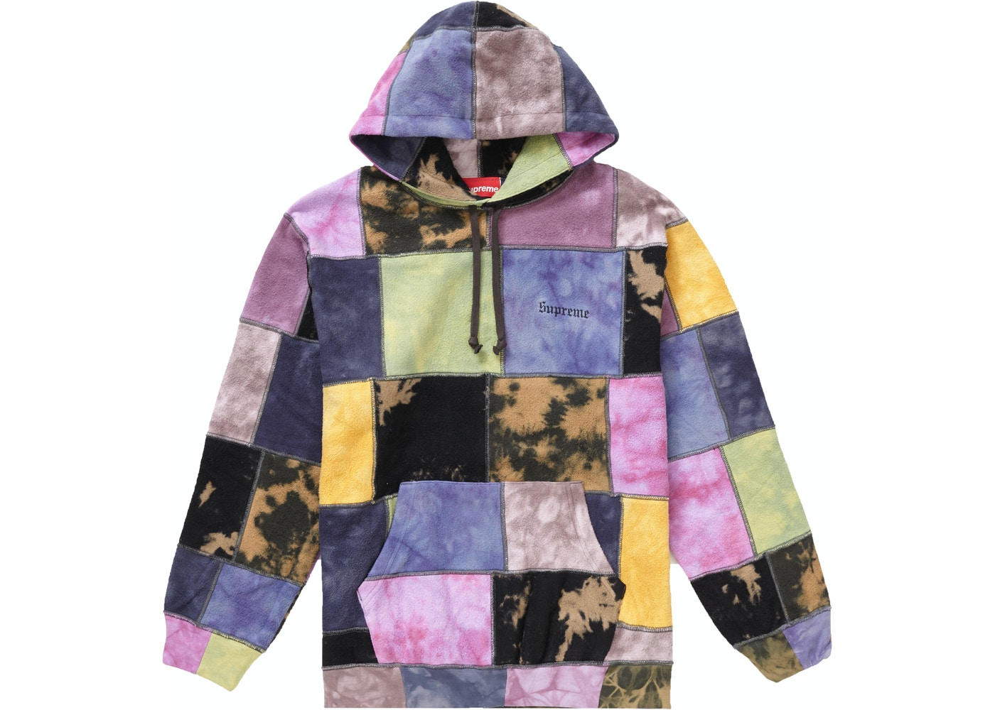 9673c783 Supreme Patchwork Tie Dye Hooded Sweatshirt Tie Dye - SS19