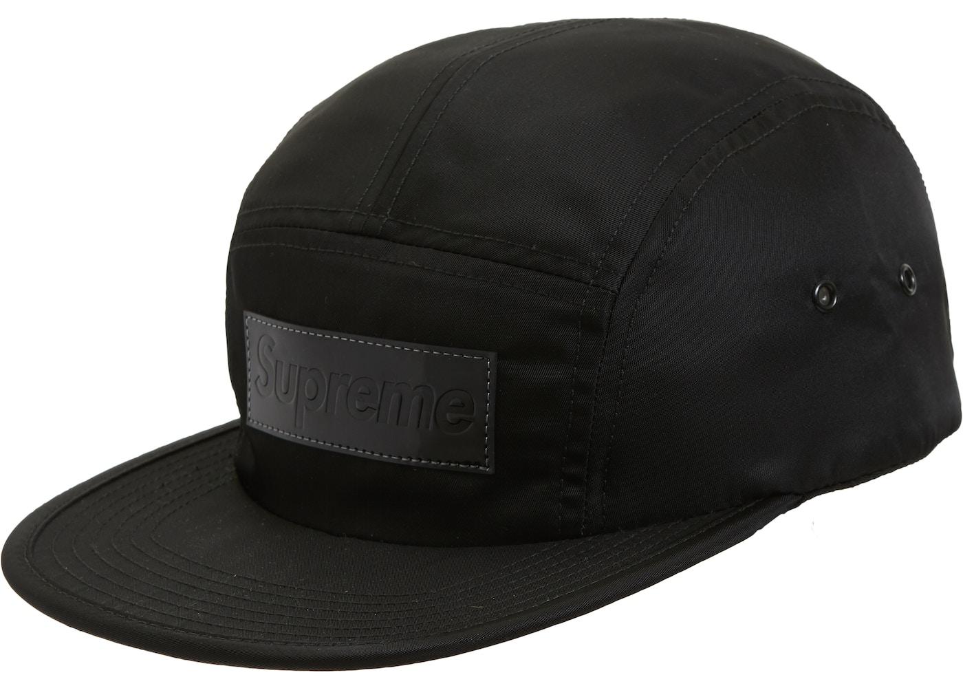Supreme Patent Leather Patch Camp Cap Black - FW18 fc8d08b25bb
