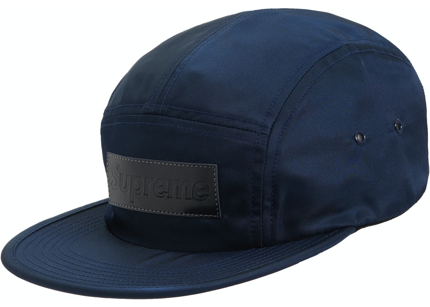 Supreme Patent Leather Patch Camp Cap Navy - FW18 427218efe5f