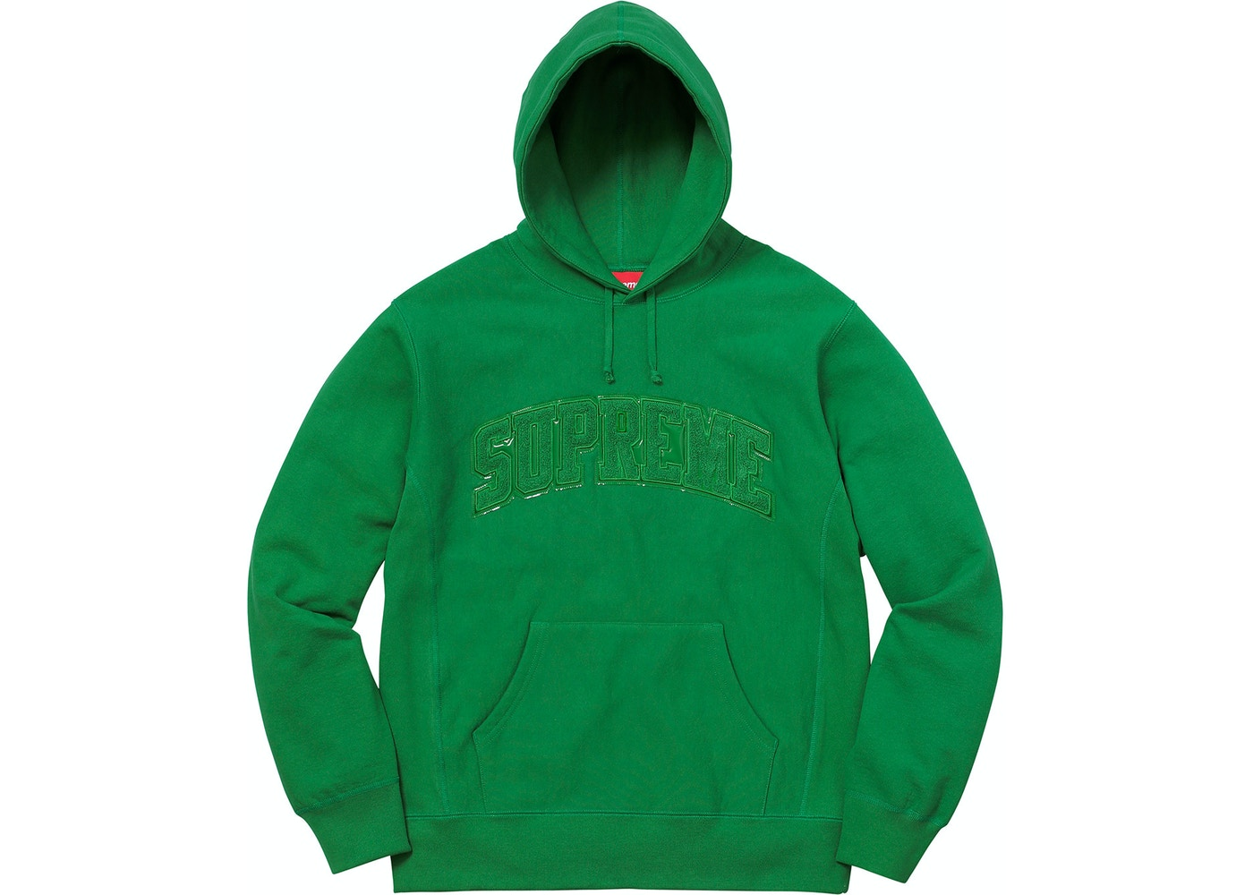 98ffda84 Supreme Patent/Chenille Arc Logo Hooded Sweatshirt Kelly Green —  HypeAnalyzer