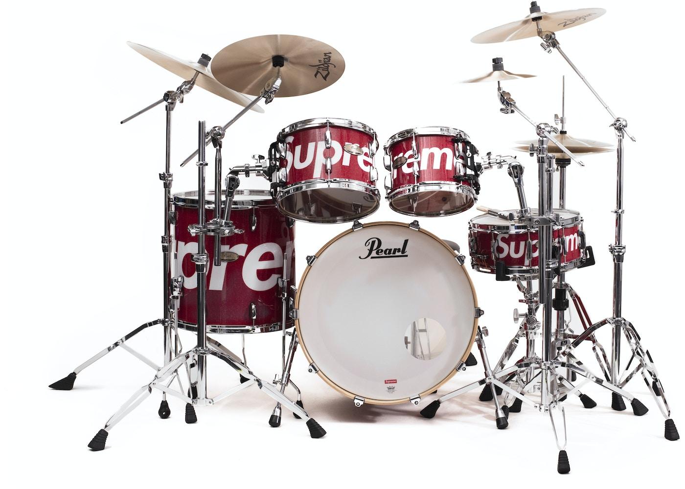 Supreme Pearl Session Studio Select Drum Set Red