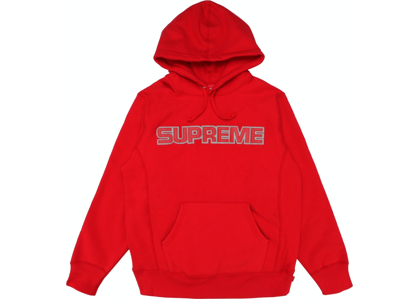 f3b530b38baf Supreme Perforated Leather Hooded Sweatshirt Red - FW18