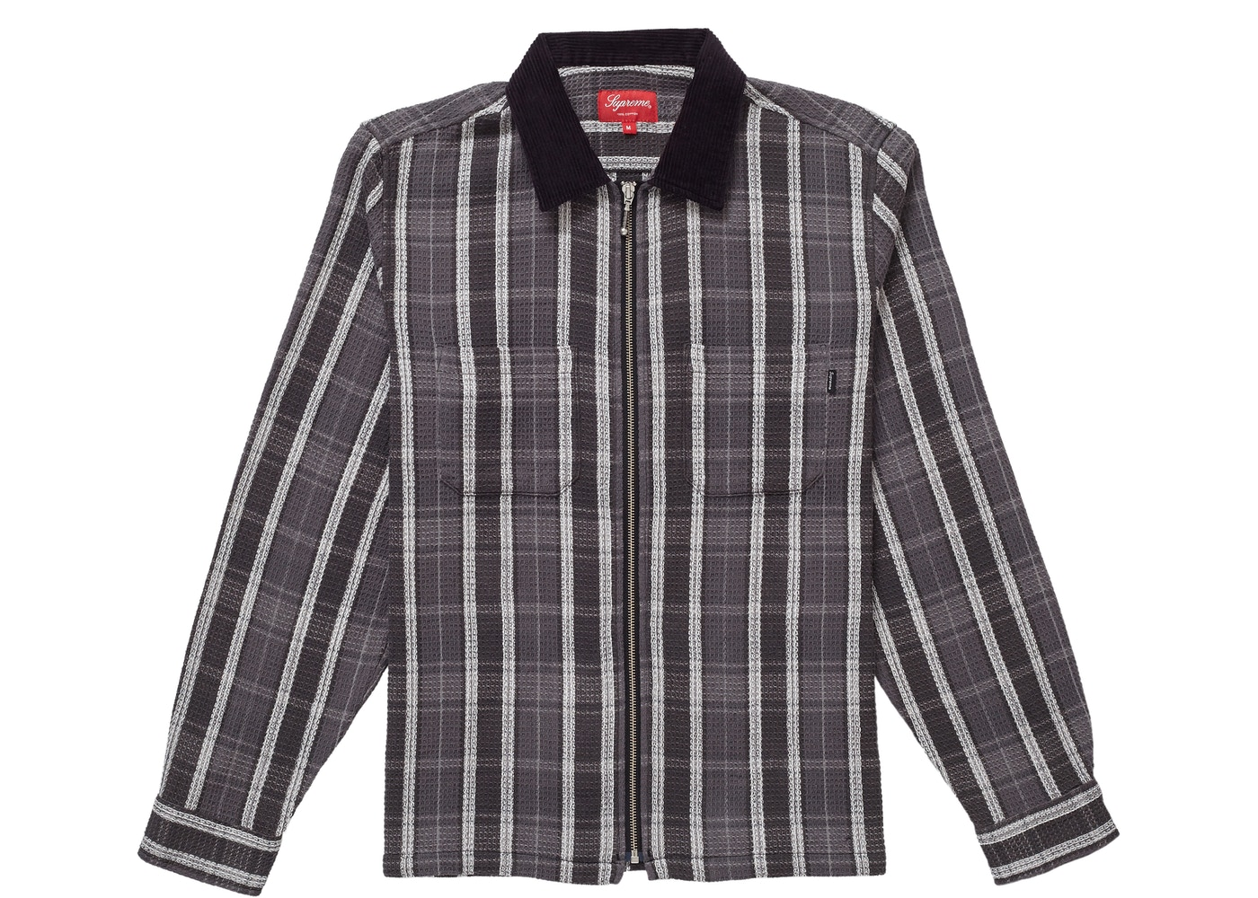 0b19e743a Sell. or Ask. Size L. View All Bids. Supreme Plaid Thermal Zip Up Shirt  Black
