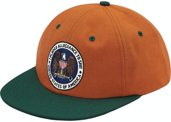 58b37086f9314 Supreme Pledge Allegiance 6-Panel Burnt Orange - FW17