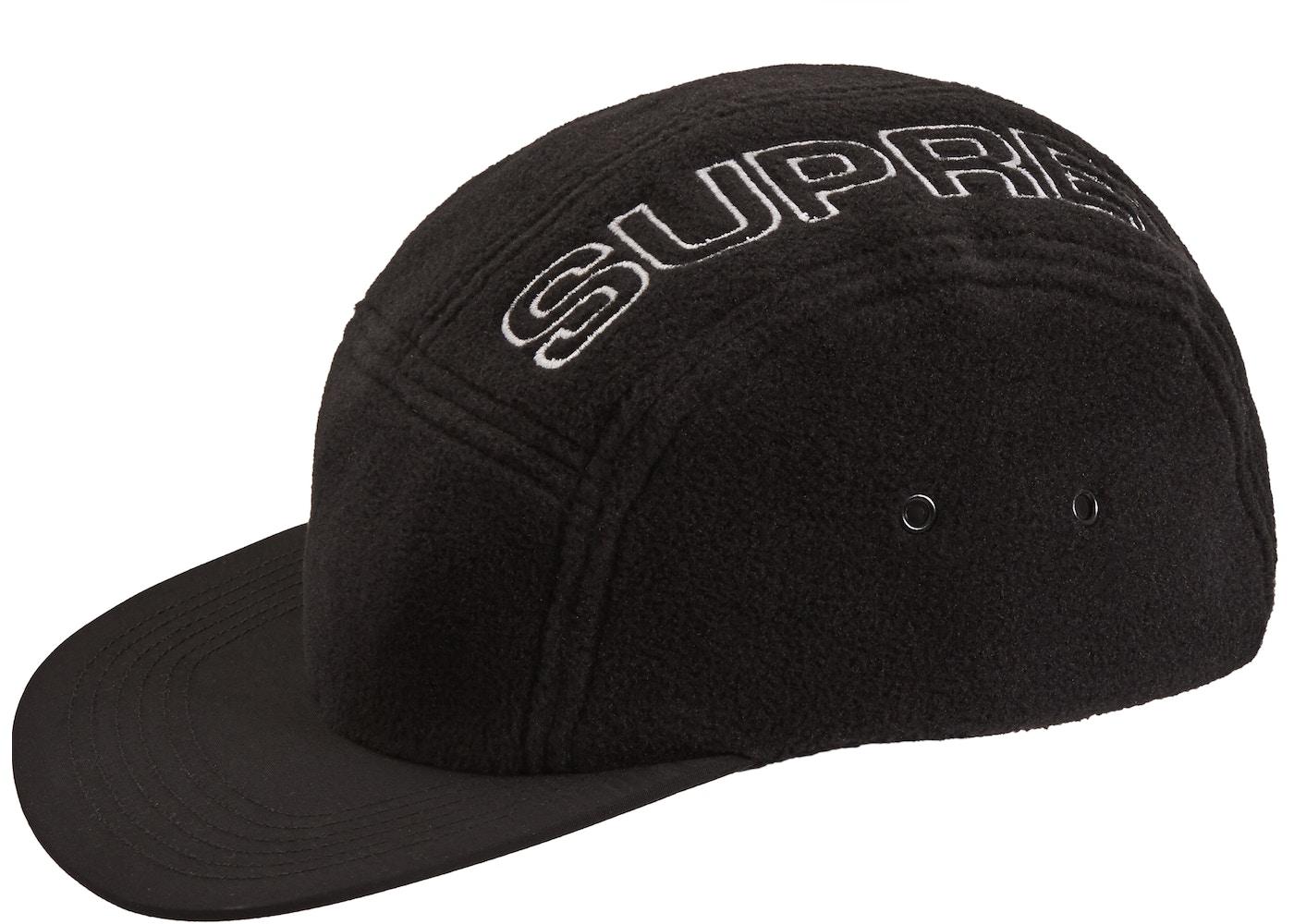 e3c0465c63493c Supreme Polartec Camp Cap Black - FW18