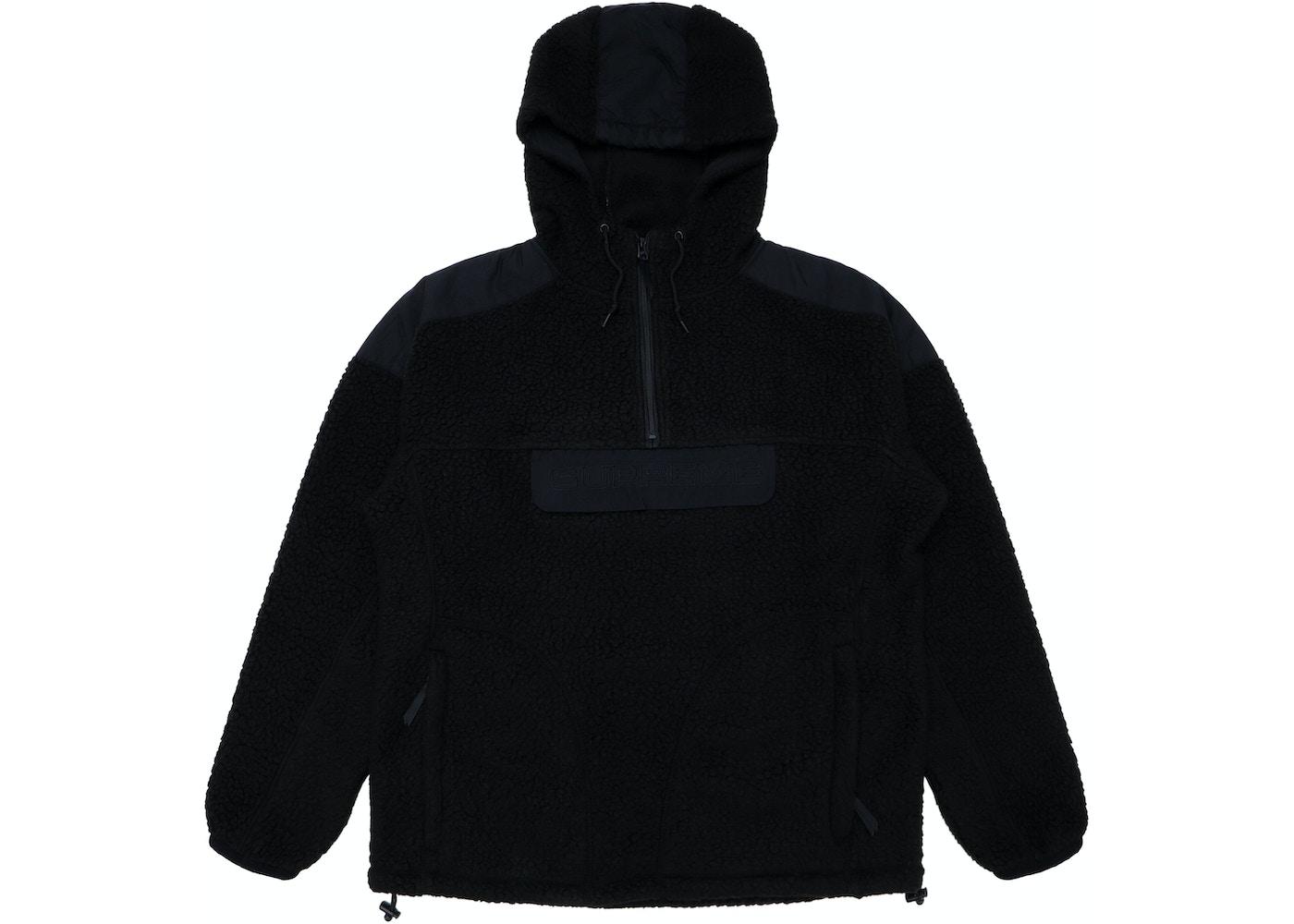 Supreme Polartec Hooded Half Zip Pullover Black