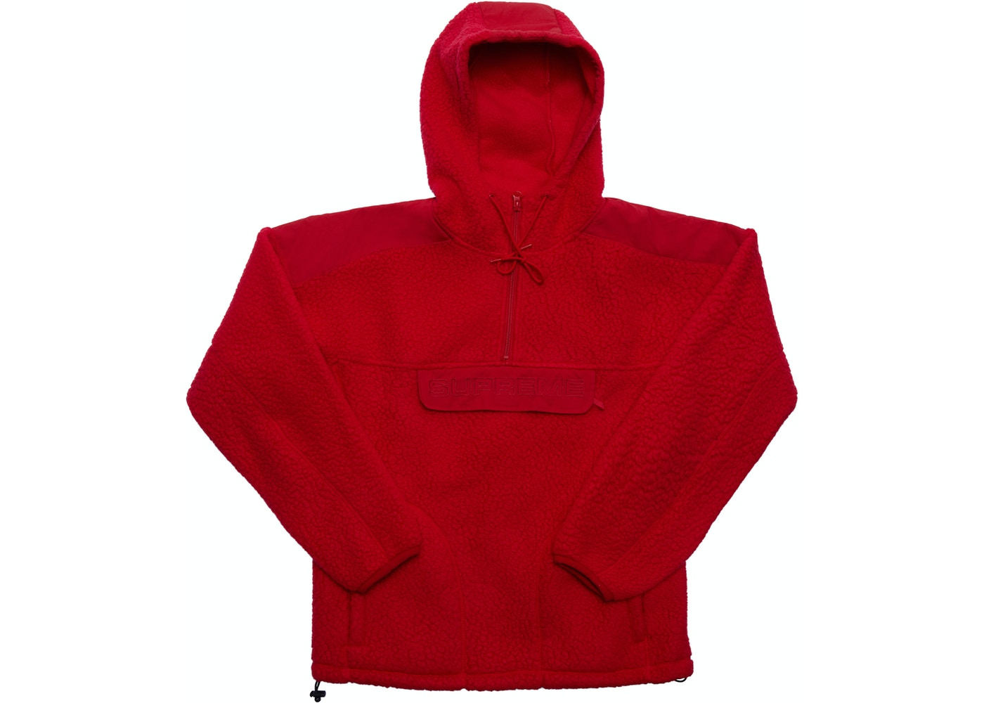 c14cd3436 Supreme Polartec Hooded Half Zip Pullover Red