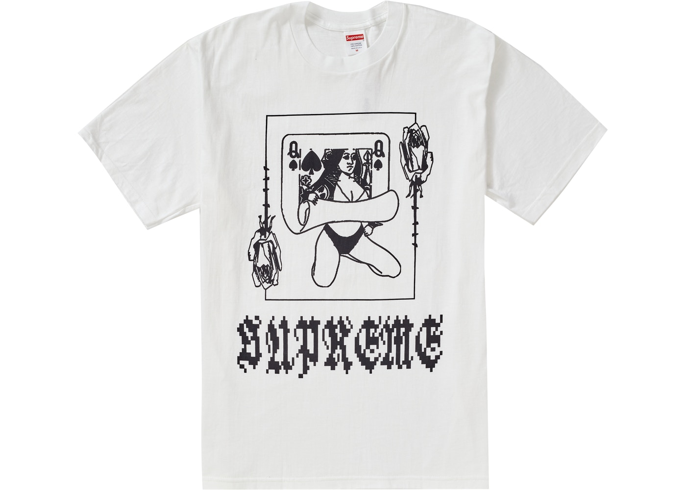 Supreme Queen Tee White by Stock X