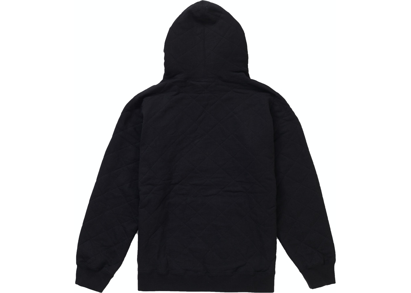 7ac3cc482 Supreme Quilted Hooded Sweatshirt Black - FW18
