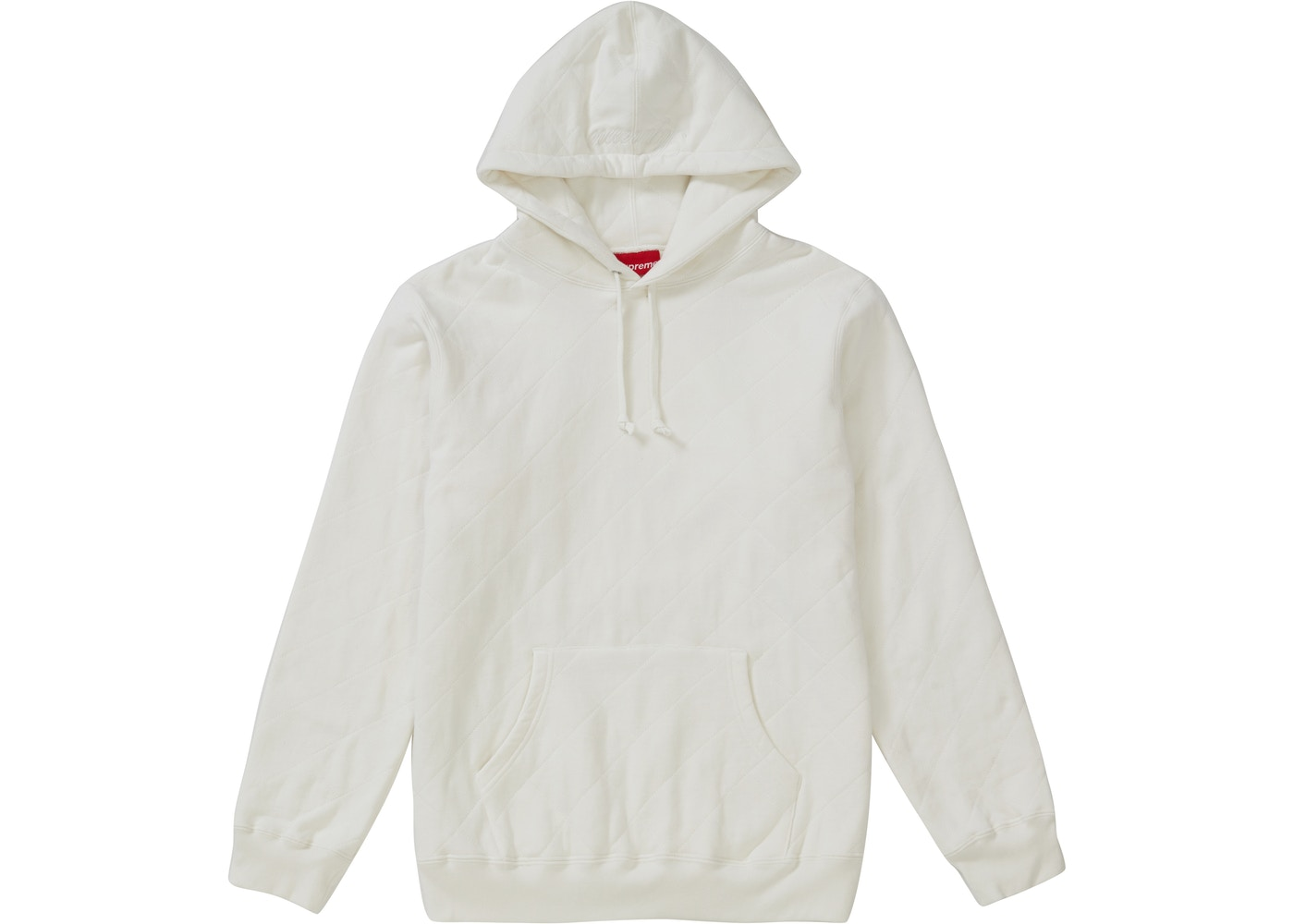 8d8080629 Supreme Quilted Hooded Sweatshirt White - FW18