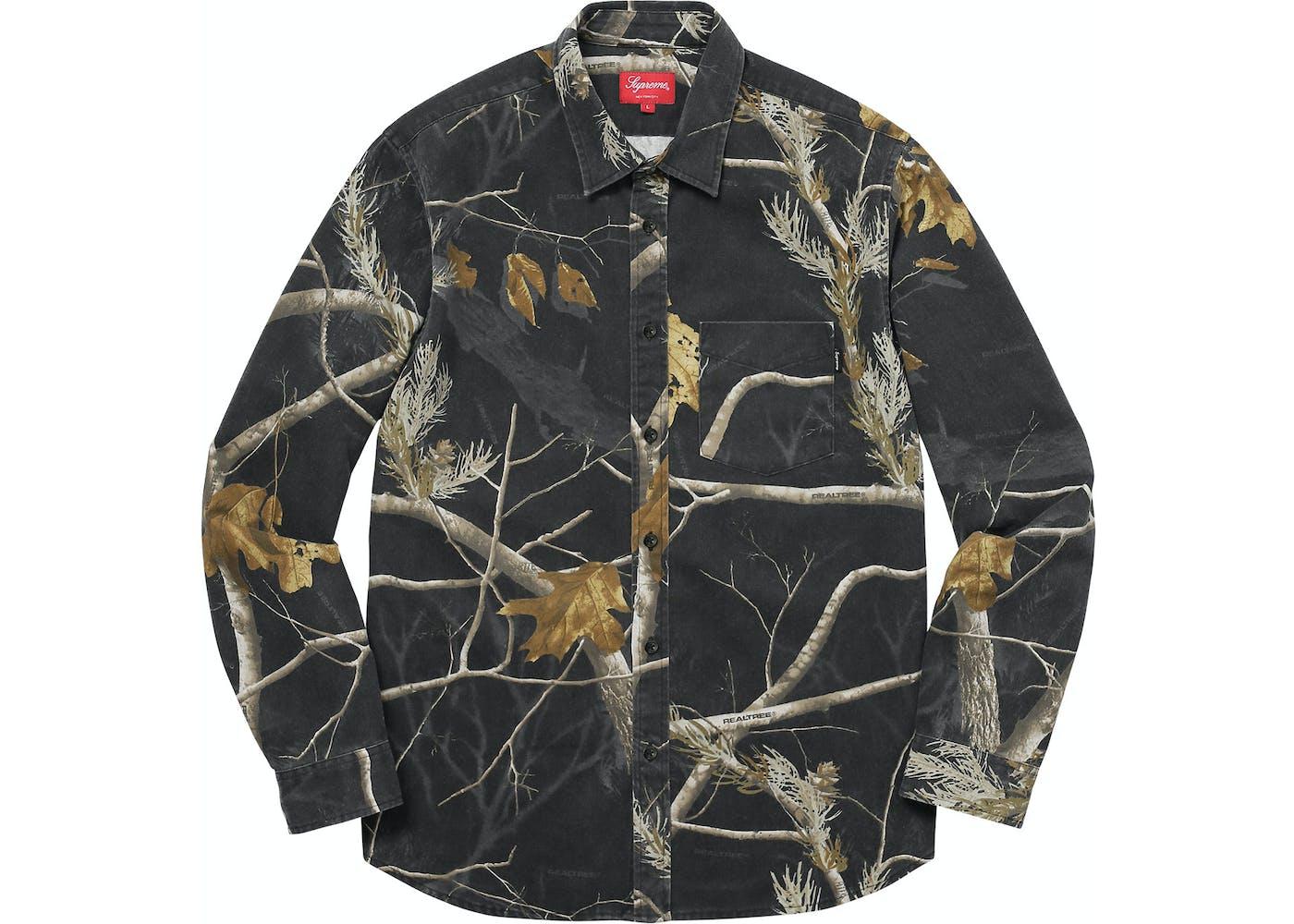 Supreme realtree camo flannel shirt black for Realtree camo flannel shirt