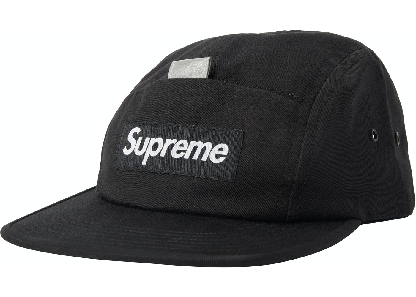 edb974ced0b7 Supreme Reflective Tab Pocket Camp Cap Black - SS18