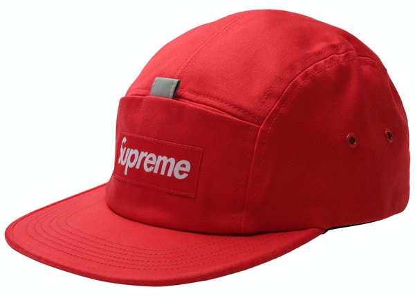 4bad35a4c49 Supreme Reflective Tab Pocket Camp Cap Red