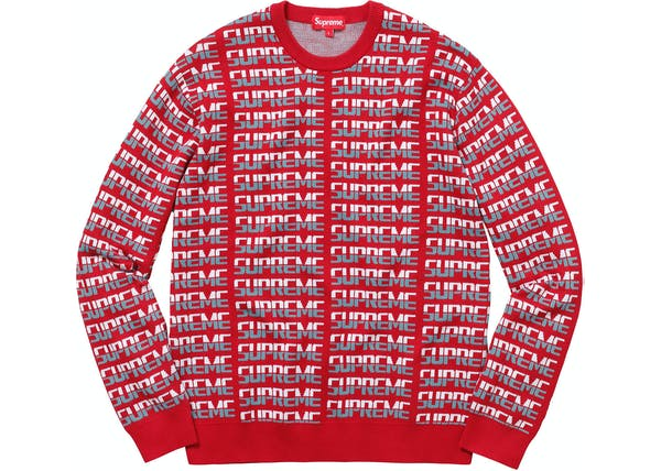 Supreme Repeat Sweater Red