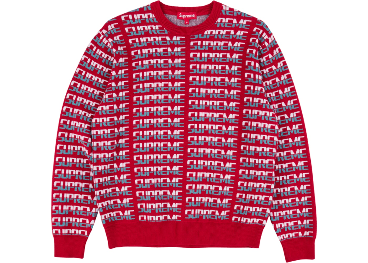 8bcd1006628c Supreme Repeat Sweater Red - FW17
