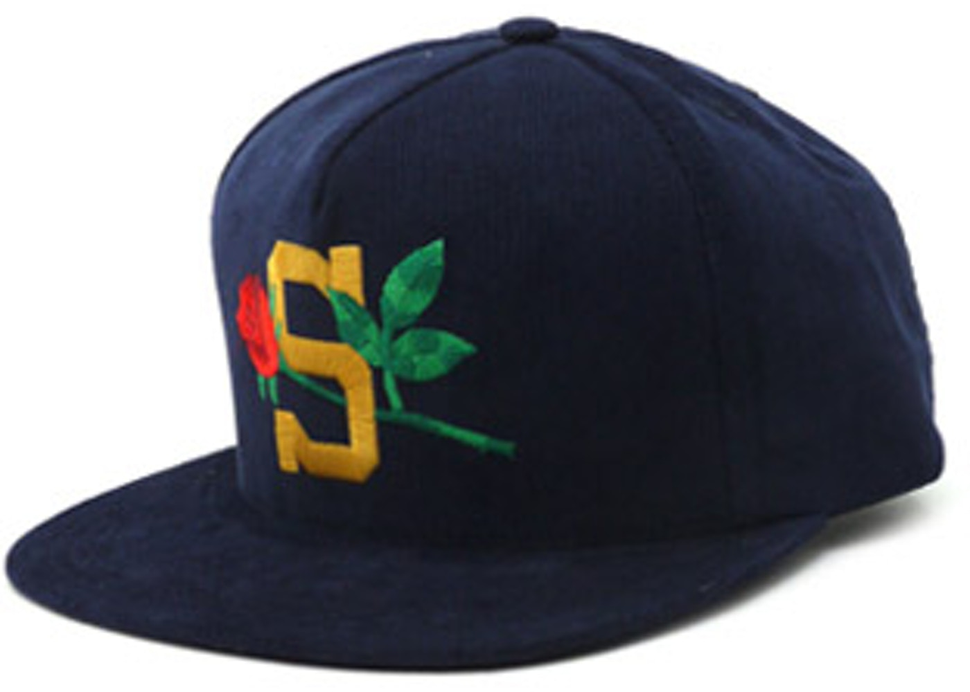 8665d110 Supreme S Logo 6 Panel Cap Hat Navy Blue 3M | eBay