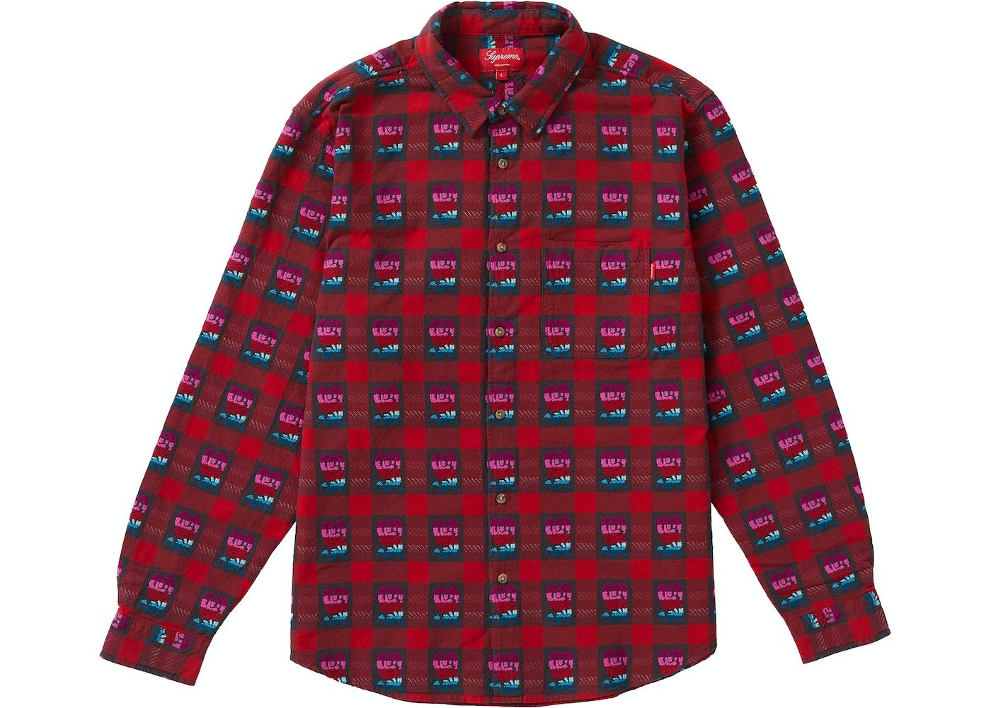 72ad095f Supreme Rose Buffalo Plaid Shirt Red