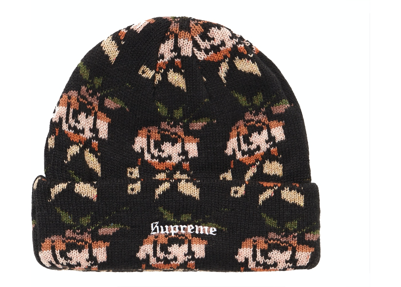 76fd511e5a2 Sell. or Ask. View All Bids. Supreme Rose Jacquard Beanie Black