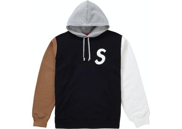 f6e56d6ca98424 Supreme S Logo Colorblocked Hooded Sweatshirt Black