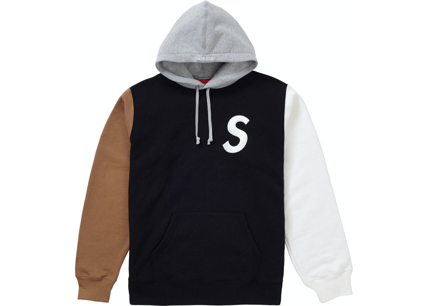 b61b52c8d5db Sell. or Ask. Size L. View All Bids. Supreme S Logo Colorblocked Hooded  Sweatshirt Black