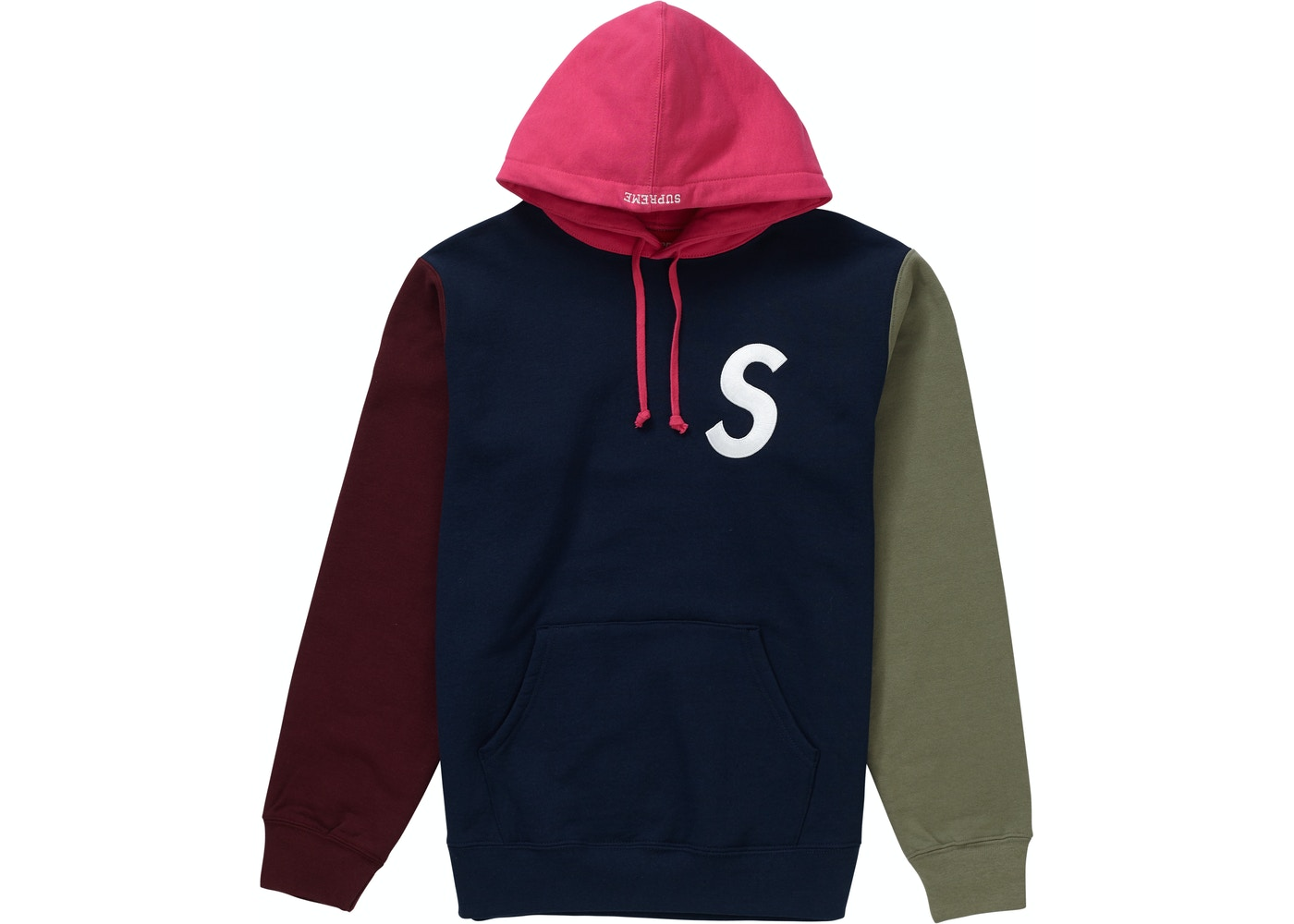 48200faaa17a Sell. or Ask. Size S. View All Bids. Supreme S Logo Colorblocked Hooded  Sweatshirt Navy