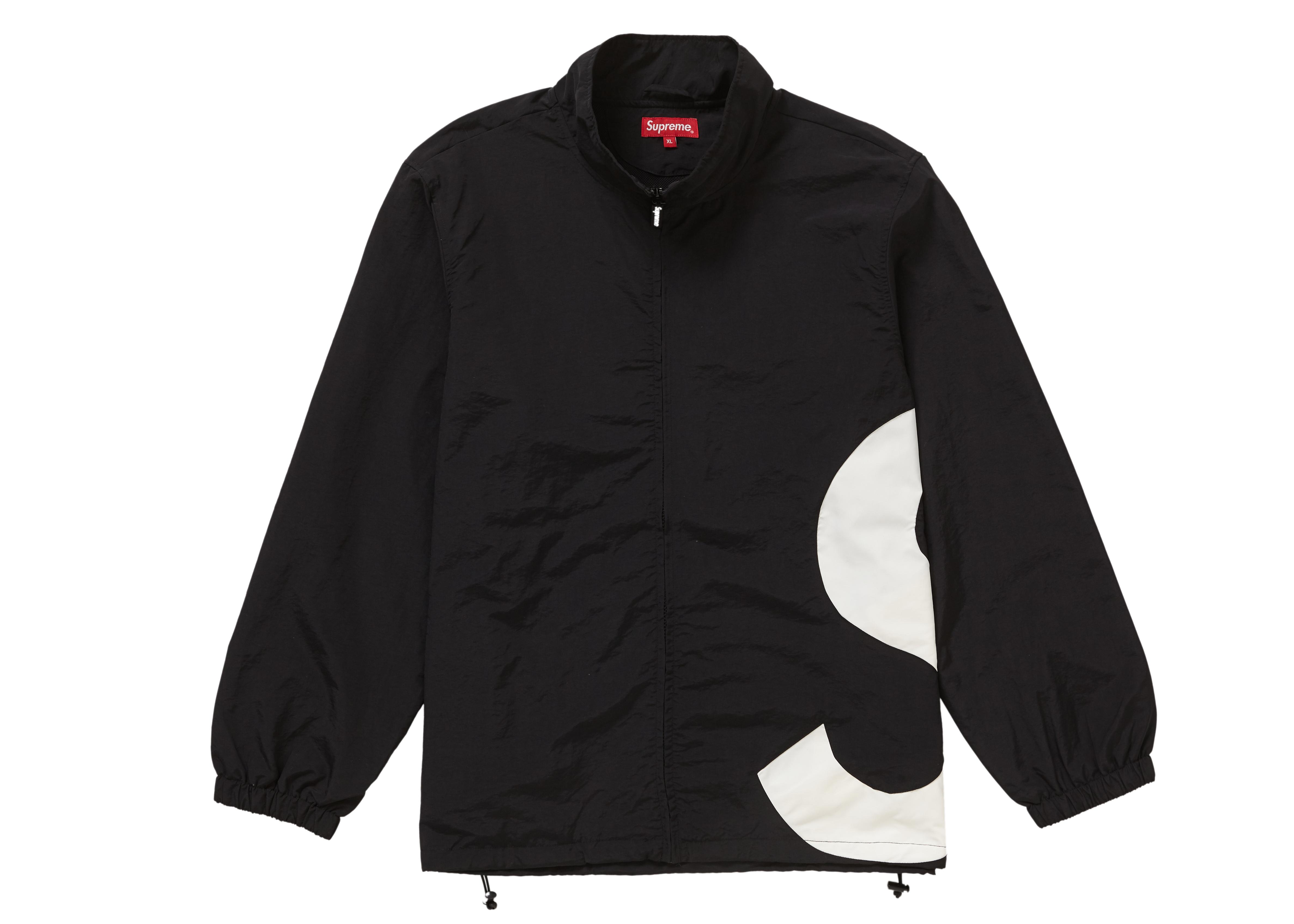 Supreme S Logo Track Jacket Black - SS19