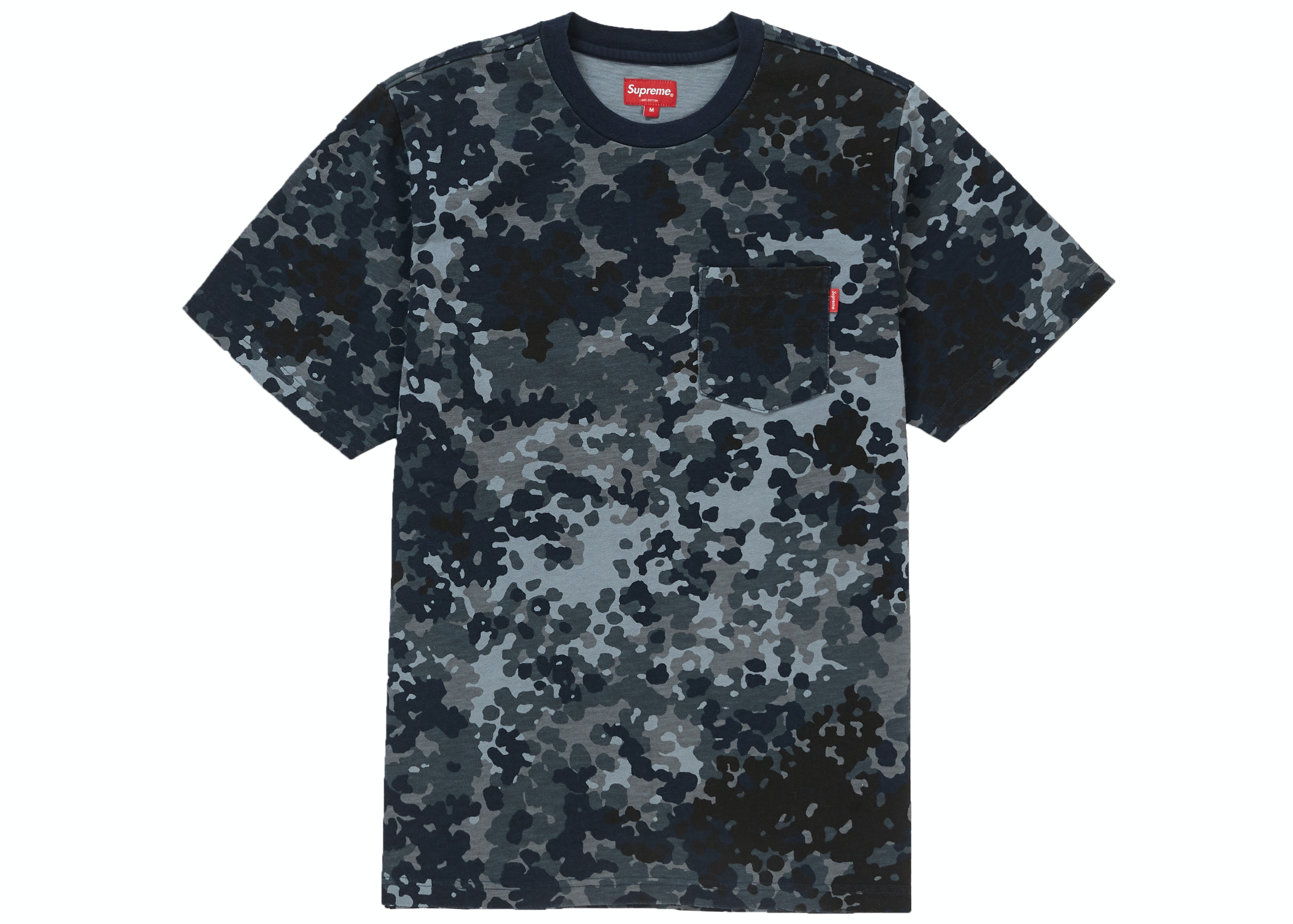 Supreme S/S Pocket Tee Navy German Camo by Stock X