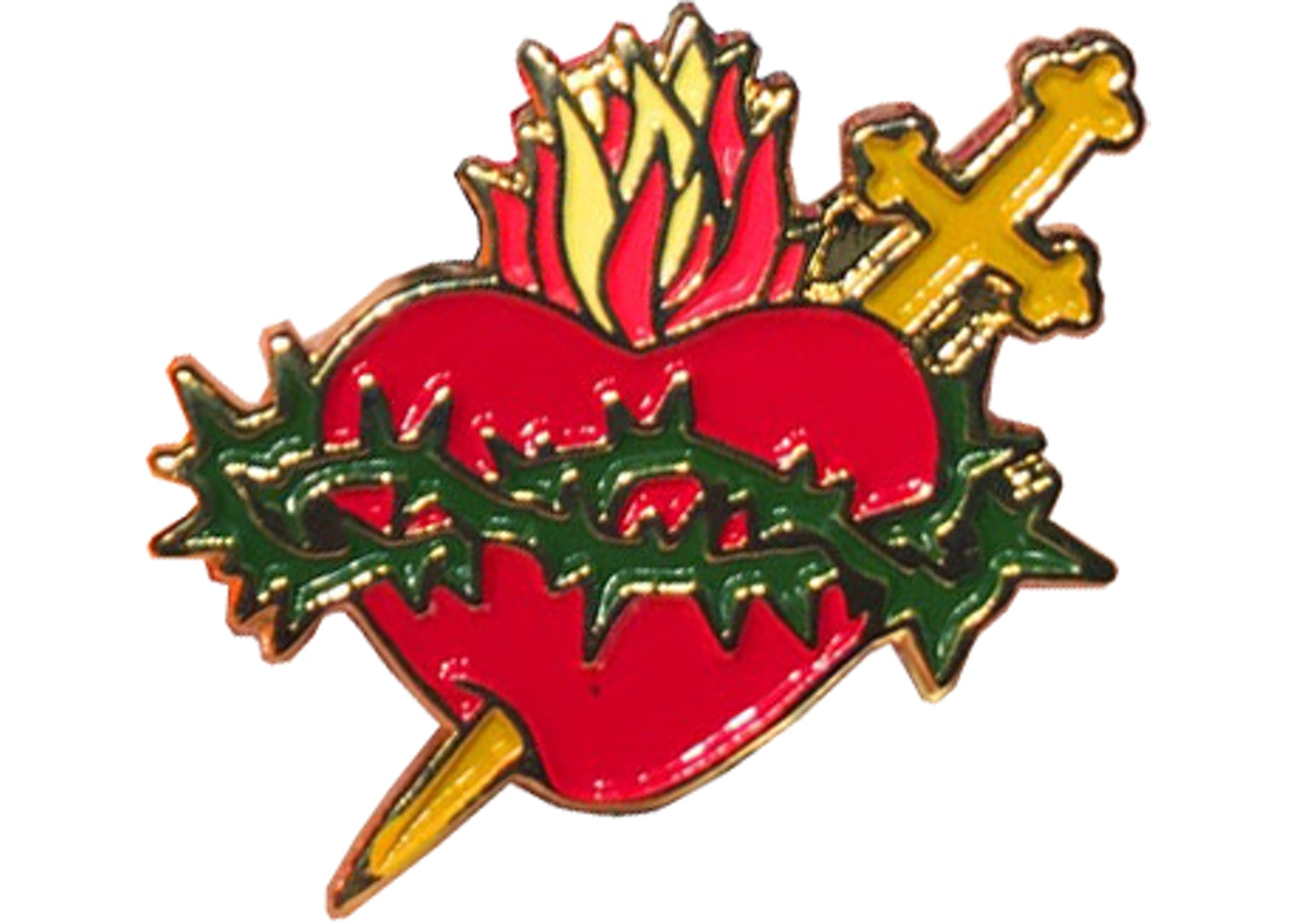 Supreme Sacred Heart Pin (Schott FW17) Gold FW17