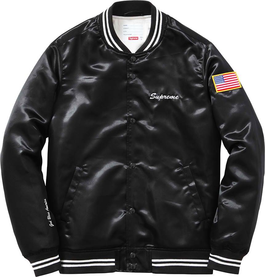 Supreme Satin Club Jacket Black