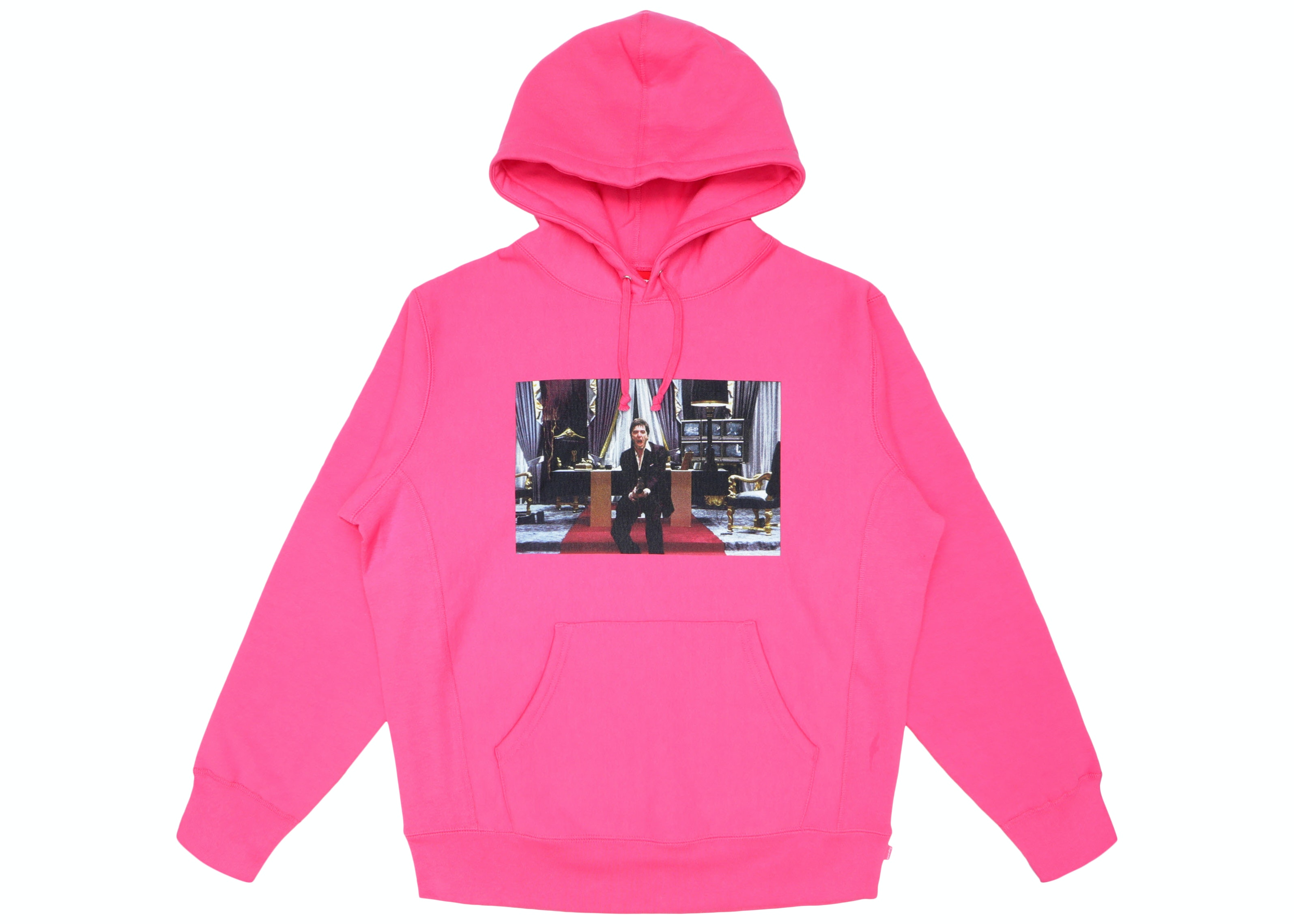 Supreme Scarface Friend Hooded Sweatshirt Magenta