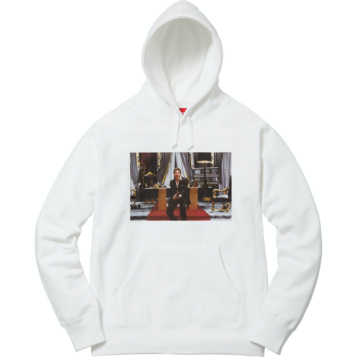 Supreme Scarface Friend Hooded Sweatshirt White