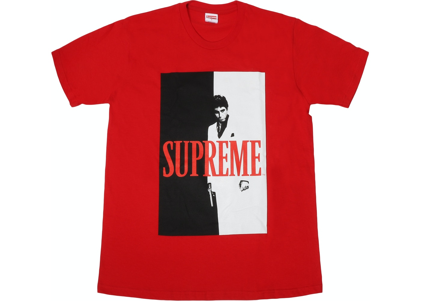 c66976223b92 Supreme Scarface Split Tee Red - FW17