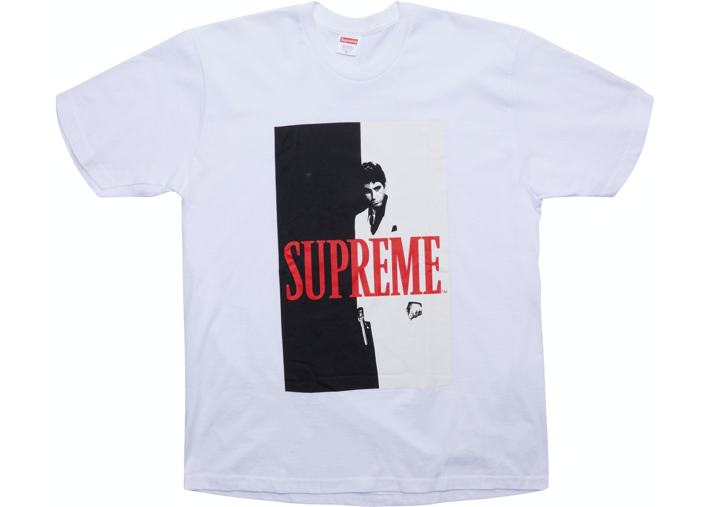 6b3824aec75 Supreme Scarface Split Tee White - FW17